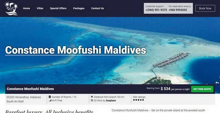 בית מלון קונסטנס מופושי- Constance Moofushi Maldives